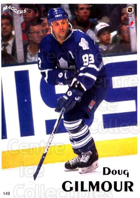 1996 Maggers Promos #149 Doug Gilmour<br/>3 In Stock - $2.00 each - <a href=https://centericecollectibles.foxycart.com/cart?name=1996%20Maggers%20Promos%20%23149%20Doug%20Gilmour...&quantity_max=3&price=$2.00&code=46501 class=foxycart> Buy it now! </a>