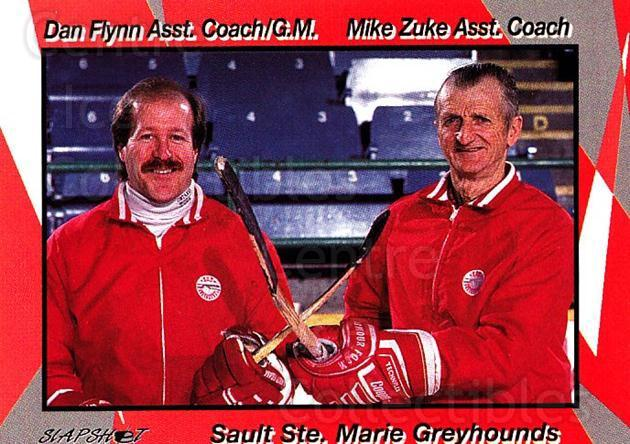 1993-94 Sault Ste. Marie Greyhounds #30 Danny Flynn, Mike Zuke<br/>2 In Stock - $3.00 each - <a href=https://centericecollectibles.foxycart.com/cart?name=1993-94%20Sault%20Ste.%20Marie%20Greyhounds%20%2330%20Danny%20Flynn,%20Mi...&quantity_max=2&price=$3.00&code=4652 class=foxycart> Buy it now! </a>