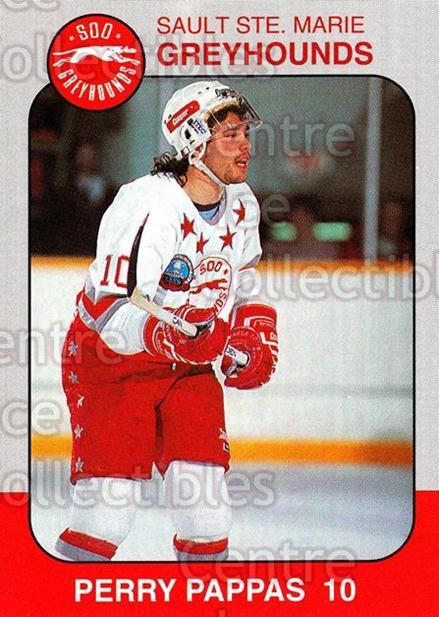 1993-94 Sault Ste. Marie Greyhounds Memorial Cup #11 Perry Pappas<br/>2 In Stock - $3.00 each - <a href=https://centericecollectibles.foxycart.com/cart?name=1993-94%20Sault%20Ste.%20Marie%20Greyhounds%20Memorial%20Cup%20%2311%20Perry%20Pappas...&quantity_max=2&price=$3.00&code=4661 class=foxycart> Buy it now! </a>