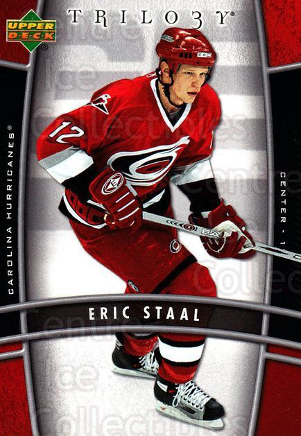 2006-07 UD Trilogy #18 Eric Staal<br/>2 In Stock - $1.00 each - <a href=https://centericecollectibles.foxycart.com/cart?name=2006-07%20UD%20Trilogy%20%2318%20Eric%20Staal...&quantity_max=2&price=$1.00&code=466944 class=foxycart> Buy it now! </a>