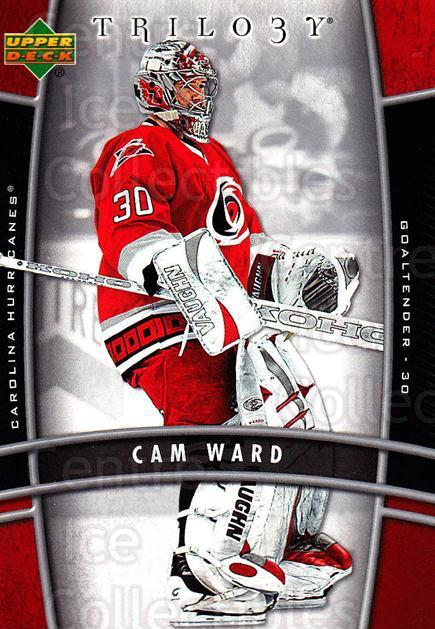 2006-07 UD Trilogy #19 Cam Ward<br/>2 In Stock - $1.00 each - <a href=https://centericecollectibles.foxycart.com/cart?name=2006-07%20UD%20Trilogy%20%2319%20Cam%20Ward...&price=$1.00&code=466945 class=foxycart> Buy it now! </a>