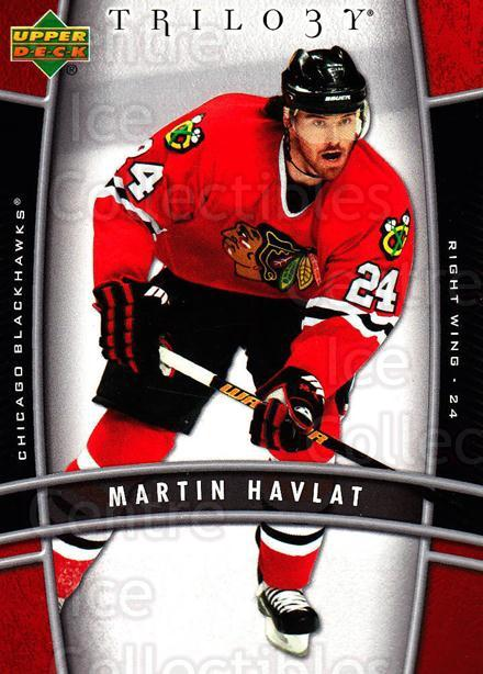 2006-07 UD Trilogy #21 Martin Havlat<br/>3 In Stock - $1.00 each - <a href=https://centericecollectibles.foxycart.com/cart?name=2006-07%20UD%20Trilogy%20%2321%20Martin%20Havlat...&quantity_max=3&price=$1.00&code=466947 class=foxycart> Buy it now! </a>