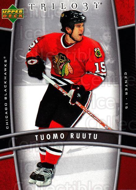 2006-07 UD Trilogy #23 Tuomo Ruutu<br/>1 In Stock - $1.00 each - <a href=https://centericecollectibles.foxycart.com/cart?name=2006-07%20UD%20Trilogy%20%2323%20Tuomo%20Ruutu...&quantity_max=1&price=$1.00&code=466949 class=foxycart> Buy it now! </a>