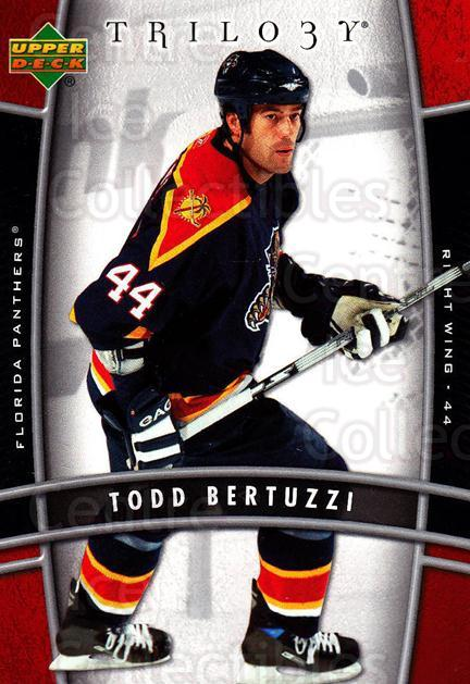 2006-07 UD Trilogy #43 Todd Bertuzzi<br/>3 In Stock - $1.00 each - <a href=https://centericecollectibles.foxycart.com/cart?name=2006-07%20UD%20Trilogy%20%2343%20Todd%20Bertuzzi...&quantity_max=3&price=$1.00&code=466969 class=foxycart> Buy it now! </a>