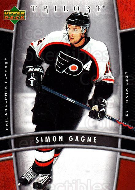 2006-07 UD Trilogy #73 Simon Gagne<br/>2 In Stock - $1.00 each - <a href=https://centericecollectibles.foxycart.com/cart?name=2006-07%20UD%20Trilogy%20%2373%20Simon%20Gagne...&quantity_max=2&price=$1.00&code=466999 class=foxycart> Buy it now! </a>
