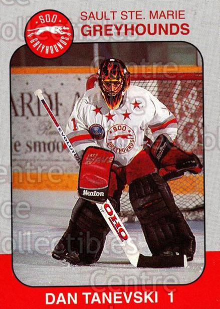 1993-94 Sault Ste. Marie Greyhounds Memorial Cup #2 Dan Tanevski<br/>5 In Stock - $3.00 each - <a href=https://centericecollectibles.foxycart.com/cart?name=1993-94%20Sault%20Ste.%20Marie%20Greyhounds%20Memorial%20Cup%20%232%20Dan%20Tanevski...&quantity_max=5&price=$3.00&code=4669 class=foxycart> Buy it now! </a>