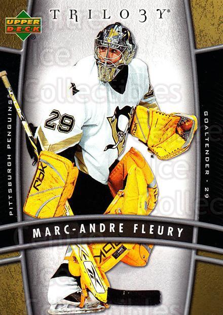 2006-07 UD Trilogy #80 Marc-Andre Fleury<br/>1 In Stock - $2.00 each - <a href=https://centericecollectibles.foxycart.com/cart?name=2006-07%20UD%20Trilogy%20%2380%20Marc-Andre%20Fleu...&quantity_max=1&price=$2.00&code=467006 class=foxycart> Buy it now! </a>