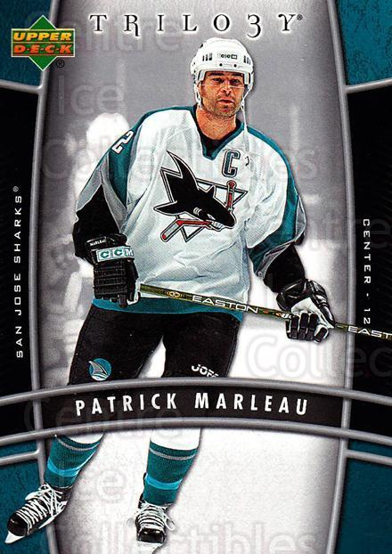 2006-07 UD Trilogy #83 Patrick Marleau<br/>3 In Stock - $1.00 each - <a href=https://centericecollectibles.foxycart.com/cart?name=2006-07%20UD%20Trilogy%20%2383%20Patrick%20Marleau...&quantity_max=3&price=$1.00&code=467009 class=foxycart> Buy it now! </a>