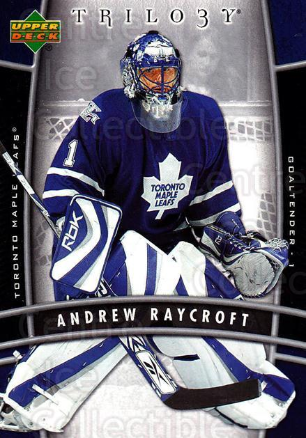 2006-07 UD Trilogy #92 Andrew Raycroft<br/>3 In Stock - $1.00 each - <a href=https://centericecollectibles.foxycart.com/cart?name=2006-07%20UD%20Trilogy%20%2392%20Andrew%20Raycroft...&quantity_max=3&price=$1.00&code=467018 class=foxycart> Buy it now! </a>