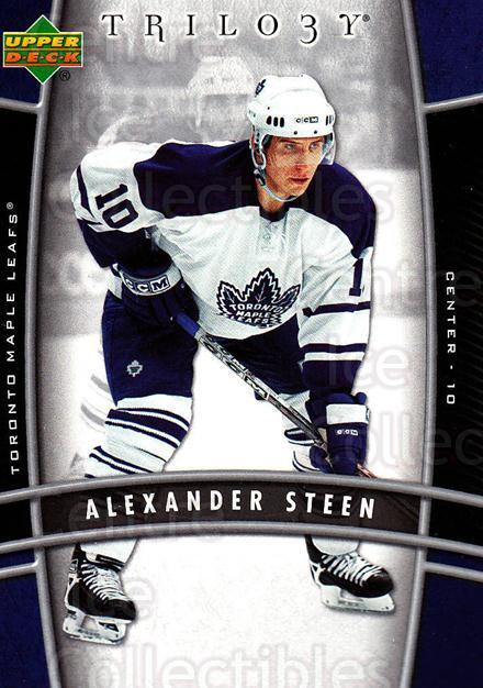 2006-07 UD Trilogy #94 Alexander Steen<br/>3 In Stock - $1.00 each - <a href=https://centericecollectibles.foxycart.com/cart?name=2006-07%20UD%20Trilogy%20%2394%20Alexander%20Steen...&quantity_max=3&price=$1.00&code=467020 class=foxycart> Buy it now! </a>