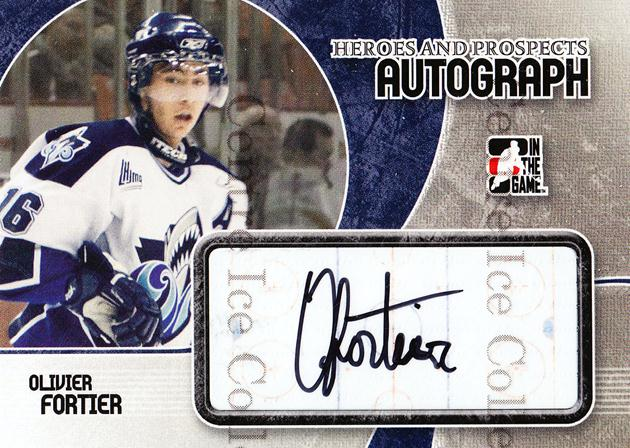 2007-08 ITG Heroes and Prospects Auto #AOF Olivier Fortier<br/>1 In Stock - $5.00 each - <a href=https://centericecollectibles.foxycart.com/cart?name=2007-08%20ITG%20Heroes%20and%20Prospects%20Auto%20%23AOF%20Olivier%20Fortier...&quantity_max=1&price=$5.00&code=467187 class=foxycart> Buy it now! </a>