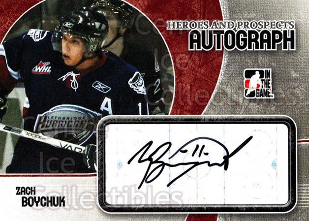 2007-08 ITG Heroes and Prospects Auto #AZB Zach Boychuk<br/>1 In Stock - $5.00 each - <a href=https://centericecollectibles.foxycart.com/cart?name=2007-08%20ITG%20Heroes%20and%20Prospects%20Auto%20%23AZB%20Zach%20Boychuk...&quantity_max=1&price=$5.00&code=467221 class=foxycart> Buy it now! </a>