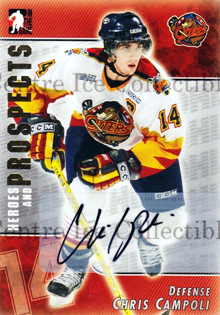 2004-05 ITG Heroes and Prospects Auto #CCA Chris Campoli<br/>1 In Stock - $5.00 each - <a href=https://centericecollectibles.foxycart.com/cart?name=2004-05%20ITG%20Heroes%20and%20Prospects%20Auto%20%23CCA%20Chris%20Campoli...&quantity_max=1&price=$5.00&code=467255 class=foxycart> Buy it now! </a>