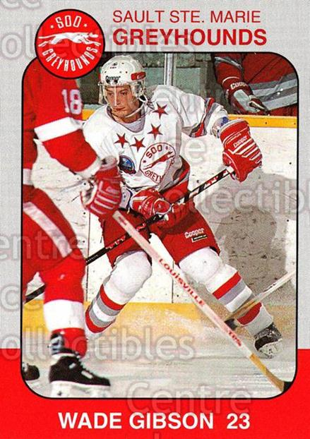1993-94 Sault Ste. Marie Greyhounds Memorial Cup #23 Wade Gibson<br/>4 In Stock - $3.00 each - <a href=https://centericecollectibles.foxycart.com/cart?name=1993-94%20Sault%20Ste.%20Marie%20Greyhounds%20Memorial%20Cup%20%2323%20Wade%20Gibson...&quantity_max=4&price=$3.00&code=4673 class=foxycart> Buy it now! </a>
