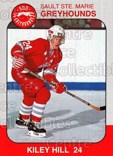 1993-94 Sault Ste. Marie Greyhounds Memorial Cup #24 Kiley Hill<br/>4 In Stock - $3.00 each - <a href=https://centericecollectibles.foxycart.com/cart?name=1993-94%20Sault%20Ste.%20Marie%20Greyhounds%20Memorial%20Cup%20%2324%20Kiley%20Hill...&quantity_max=4&price=$3.00&code=4674 class=foxycart> Buy it now! </a>