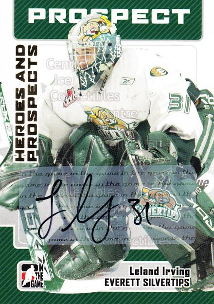 2006-07 ITG Heroes and Prospects Auto #ALI Leland Irving<br/>1 In Stock - $5.00 each - <a href=https://centericecollectibles.foxycart.com/cart?name=2006-07%20ITG%20Heroes%20and%20Prospects%20Auto%20%23ALI%20Leland%20Irving...&quantity_max=1&price=$5.00&code=467513 class=foxycart> Buy it now! </a>
