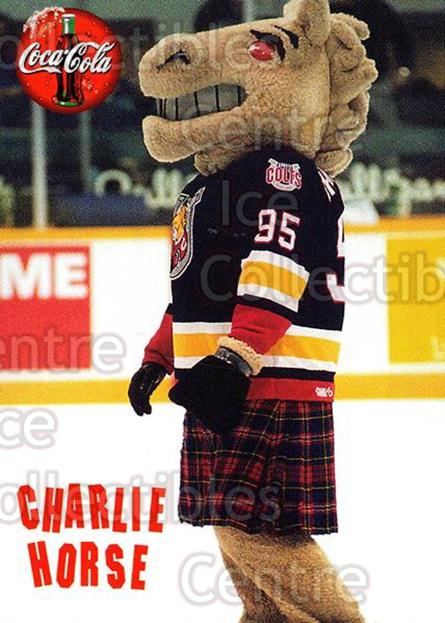 1997-98 Barrie Colts #28 Mascot<br/>4 In Stock - $3.00 each - <a href=https://centericecollectibles.foxycart.com/cart?name=1997-98%20Barrie%20Colts%20%2328%20Mascot...&quantity_max=4&price=$3.00&code=46754 class=foxycart> Buy it now! </a>