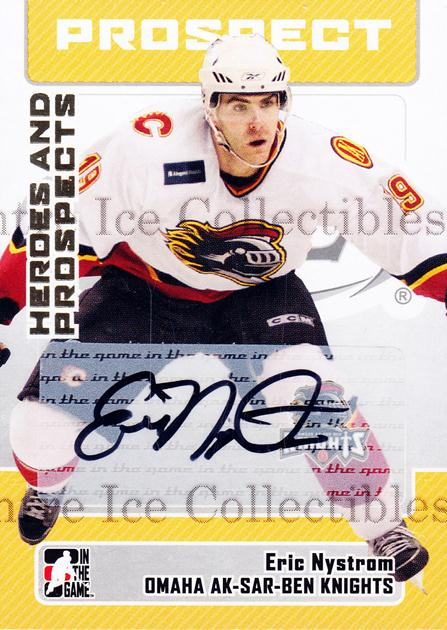 2006-07 ITG Heroes and Prospects Auto Update #AEN Eric Nystrom<br/>1 In Stock - $5.00 each - <a href=https://centericecollectibles.foxycart.com/cart?name=2006-07%20ITG%20Heroes%20and%20Prospects%20Auto%20Update%20%23AEN%20Eric%20Nystrom...&quantity_max=1&price=$5.00&code=467555 class=foxycart> Buy it now! </a>