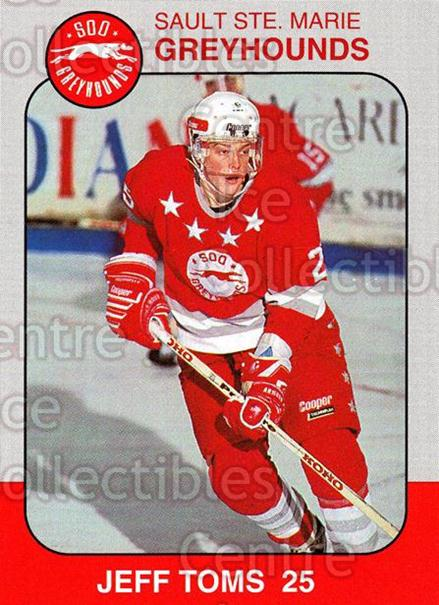1993-94 Sault Ste. Marie Greyhounds Memorial Cup #25 Jeff Toms<br/>1 In Stock - $3.00 each - <a href=https://centericecollectibles.foxycart.com/cart?name=1993-94%20Sault%20Ste.%20Marie%20Greyhounds%20Memorial%20Cup%20%2325%20Jeff%20Toms...&quantity_max=1&price=$3.00&code=4675 class=foxycart> Buy it now! </a>