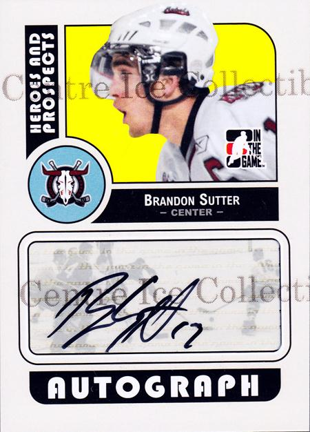 2008-09 ITG Heroes and Prospects Auto #ABS Brandon Sutter<br/>1 In Stock - $5.00 each - <a href=https://centericecollectibles.foxycart.com/cart?name=2008-09%20ITG%20Heroes%20and%20Prospects%20Auto%20%23ABS%20Brandon%20Sutter...&price=$5.00&code=467617 class=foxycart> Buy it now! </a>