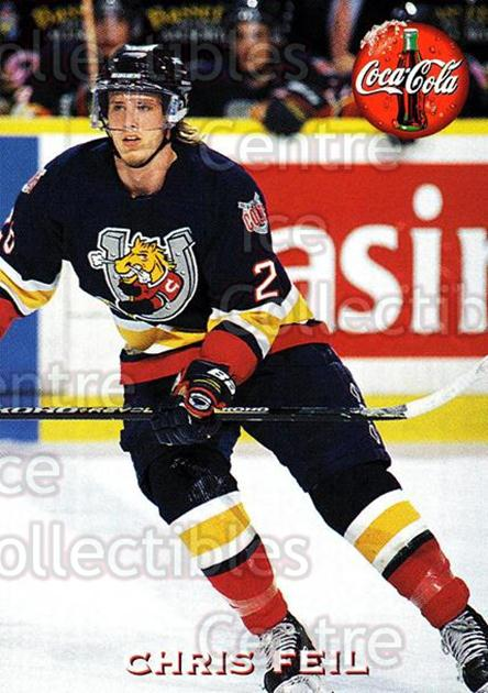 1997-98 Barrie Colts #7 Chris Feil<br/>2 In Stock - $3.00 each - <a href=https://centericecollectibles.foxycart.com/cart?name=1997-98%20Barrie%20Colts%20%237%20Chris%20Feil...&quantity_max=2&price=$3.00&code=46761 class=foxycart> Buy it now! </a>