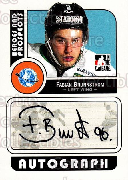 2008-09 ITG Heroes and Prospects Auto #AFB Fabian Brunnstrom<br/>1 In Stock - $5.00 each - <a href=https://centericecollectibles.foxycart.com/cart?name=2008-09%20ITG%20Heroes%20and%20Prospects%20Auto%20%23AFB%20Fabian%20Brunnstr...&quantity_max=1&price=$5.00&code=467636 class=foxycart> Buy it now! </a>