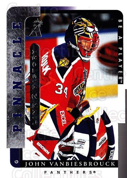 1996-97 Be A Player Link to History #10B John Vanbiesbrouck<br/>1 In Stock - $1.00 each - <a href=https://centericecollectibles.foxycart.com/cart?name=1996-97%20Be%20A%20Player%20Link%20to%20History%20%2310B%20John%20Vanbiesbro...&quantity_max=1&price=$1.00&code=46770 class=foxycart> Buy it now! </a>