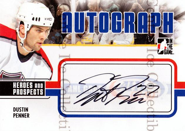 2009-10 ITG Heroes and Prospects Auto Update #ADP Dustin Penner<br/>2 In Stock - $5.00 each - <a href=https://centericecollectibles.foxycart.com/cart?name=2009-10%20ITG%20Heroes%20and%20Prospects%20Auto%20Update%20%23ADP%20Dustin%20Penner...&quantity_max=2&price=$5.00&code=467843 class=foxycart> Buy it now! </a>
