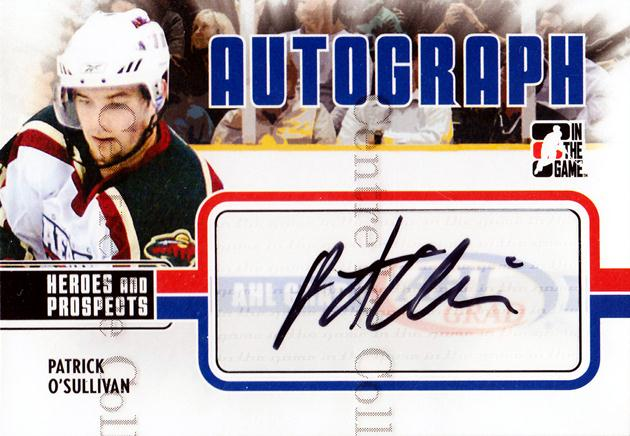2009-10 ITG Heroes and Prospects Auto Update #APO Patrick O'Sullivan<br/>1 In Stock - $5.00 each - <a href=https://centericecollectibles.foxycart.com/cart?name=2009-10%20ITG%20Heroes%20and%20Prospects%20Auto%20Update%20%23APO%20Patrick%20O'Sulli...&quantity_max=1&price=$5.00&code=467846 class=foxycart> Buy it now! </a>