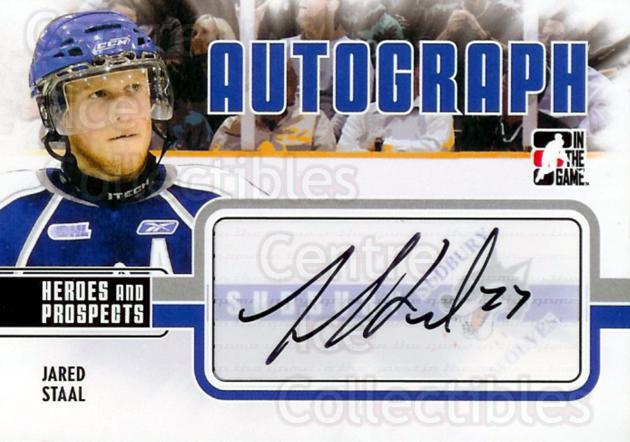 2009-10 ITG Heroes and Prospects Auto Update #AJS Jared Staal<br/>4 In Stock - $5.00 each - <a href=https://centericecollectibles.foxycart.com/cart?name=2009-10%20ITG%20Heroes%20and%20Prospects%20Auto%20Update%20%23AJS%20Jared%20Staal...&quantity_max=4&price=$5.00&code=467849 class=foxycart> Buy it now! </a>