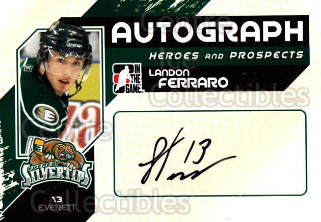 2010-11 ITG Heroes and Prospects Auto #ALF Landon Ferraro<br/>1 In Stock - $5.00 each - <a href=https://centericecollectibles.foxycart.com/cart?name=2010-11%20ITG%20Heroes%20and%20Prospects%20Auto%20%23ALF%20Landon%20Ferraro...&price=$5.00&code=467933 class=foxycart> Buy it now! </a>