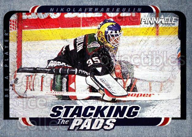1996-97 Be A Player Stacking the Pads #7 Nikolai Khabibulin<br/>2 In Stock - $3.00 each - <a href=https://centericecollectibles.foxycart.com/cart?name=1996-97%20Be%20A%20Player%20Stacking%20the%20Pads%20%237%20Nikolai%20Khabibu...&quantity_max=2&price=$3.00&code=46794 class=foxycart> Buy it now! </a>