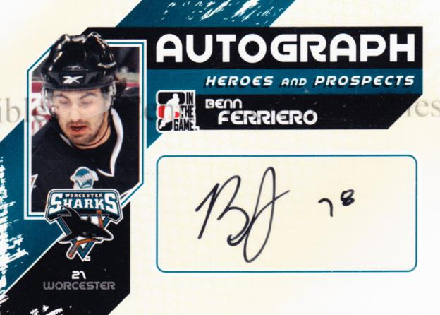 2010-11 ITG Heroes and Prospects Auto Update #ABF Benn Ferriero<br/>2 In Stock - $5.00 each - <a href=https://centericecollectibles.foxycart.com/cart?name=2010-11%20ITG%20Heroes%20and%20Prospects%20Auto%20Update%20%23ABF%20Benn%20Ferriero...&quantity_max=2&price=$5.00&code=468018 class=foxycart> Buy it now! </a>