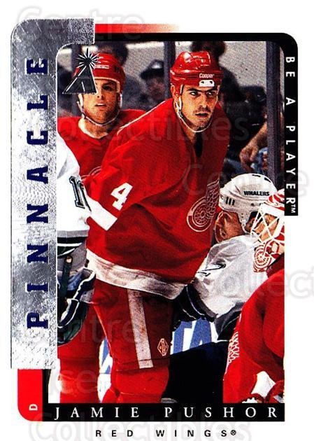 1996-97 Be A Player #102 Jamie Pushor<br/>4 In Stock - $1.00 each - <a href=https://centericecollectibles.foxycart.com/cart?name=1996-97%20Be%20A%20Player%20%23102%20Jamie%20Pushor...&quantity_max=4&price=$1.00&code=46801 class=foxycart> Buy it now! </a>