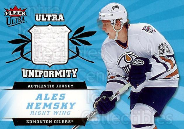 2006-07 Ultra Uniformity Jersey #UAH Ales Hemsky<br/>1 In Stock - $5.00 each - <a href=https://centericecollectibles.foxycart.com/cart?name=2006-07%20Ultra%20Uniformity%20Jersey%20%23UAH%20Ales%20Hemsky...&quantity_max=1&price=$5.00&code=468217 class=foxycart> Buy it now! </a>