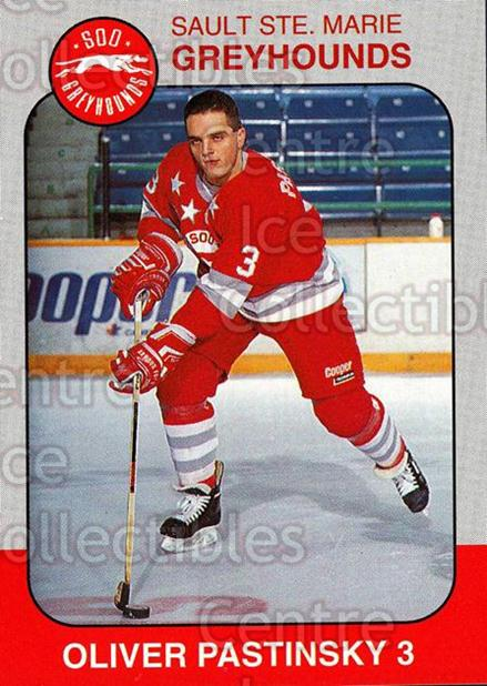 1993-94 Sault Ste. Marie Greyhounds Memorial Cup #4 Oliver Pastinsky<br/>3 In Stock - $3.00 each - <a href=https://centericecollectibles.foxycart.com/cart?name=1993-94%20Sault%20Ste.%20Marie%20Greyhounds%20Memorial%20Cup%20%234%20Oliver%20Pastinsk...&quantity_max=3&price=$3.00&code=4682 class=foxycart> Buy it now! </a>