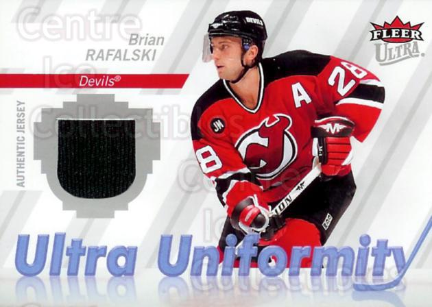 2007-08 Ultra Uniformity Jersey #URA Brian Rafalski<br/>1 In Stock - $5.00 each - <a href=https://centericecollectibles.foxycart.com/cart?name=2007-08%20Ultra%20Uniformity%20Jersey%20%23URA%20Brian%20Rafalski...&quantity_max=1&price=$5.00&code=468364 class=foxycart> Buy it now! </a>