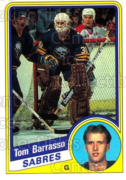 1984-85 O-Pee-Chee #18 Tom Barrasso<br/>2 In Stock - $5.00 each - <a href=https://centericecollectibles.foxycart.com/cart?name=1984-85%20O-Pee-Chee%20%2318%20Tom%20Barrasso...&quantity_max=2&price=$5.00&code=468509 class=foxycart> Buy it now! </a>