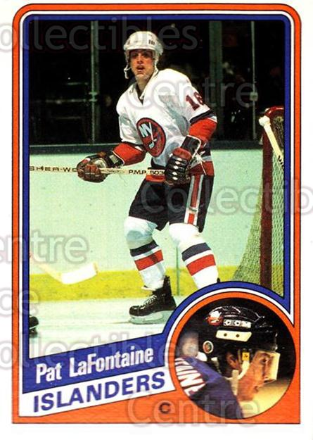 1984-85 O-Pee-Chee #129 Pat LaFontaine<br/>4 In Stock - $20.00 each - <a href=https://centericecollectibles.foxycart.com/cart?name=1984-85%20O-Pee-Chee%20%23129%20Pat%20LaFontaine...&quantity_max=4&price=$20.00&code=468512 class=foxycart> Buy it now! </a>