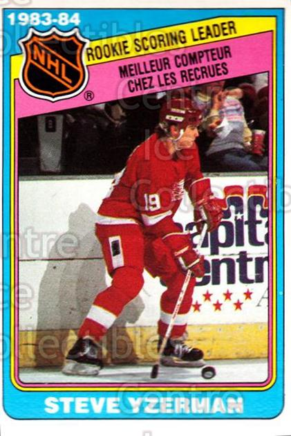 1984-85 O-Pee-Chee #385 Steve Yzerman<br/>1 In Stock - $5.00 each - <a href=https://centericecollectibles.foxycart.com/cart?name=1984-85%20O-Pee-Chee%20%23385%20Steve%20Yzerman...&price=$5.00&code=468531 class=foxycart> Buy it now! </a>