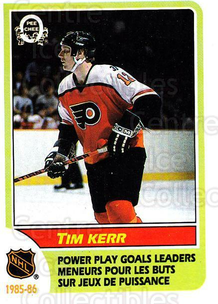 1986-87 O-Pee-Chee #261 Tim Kerr<br/>5 In Stock - $1.00 each - <a href=https://centericecollectibles.foxycart.com/cart?name=1986-87%20O-Pee-Chee%20%23261%20Tim%20Kerr...&quantity_max=5&price=$1.00&code=468574 class=foxycart> Buy it now! </a>