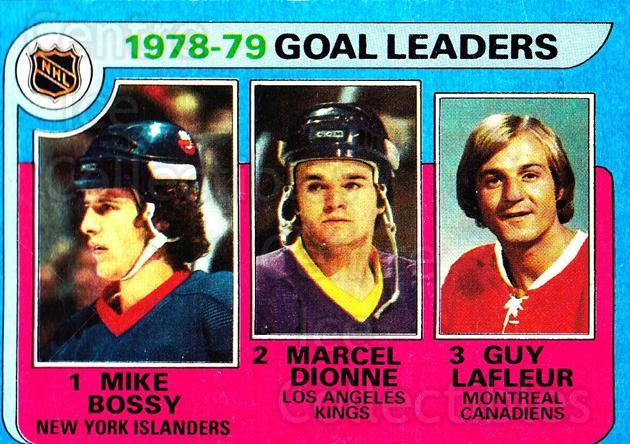 1979-80 Topps #1 Mike Bossy, Marcel Dionne, Guy Lafleur<br/>2 In Stock - $5.00 each - <a href=https://centericecollectibles.foxycart.com/cart?name=1979-80%20Topps%20%231%20Mike%20Bossy,%20Mar...&quantity_max=2&price=$5.00&code=468594 class=foxycart> Buy it now! </a>