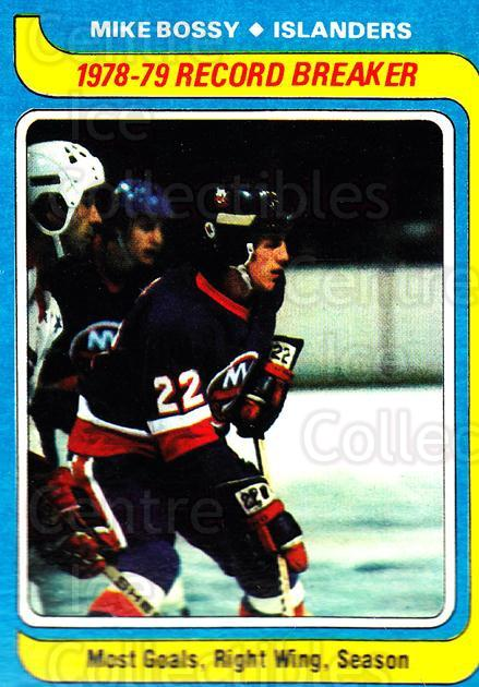 1979-80 Topps #161 Mike Bossy<br/>1 In Stock - $3.00 each - <a href=https://centericecollectibles.foxycart.com/cart?name=1979-80%20Topps%20%23161%20Mike%20Bossy...&price=$3.00&code=468605 class=foxycart> Buy it now! </a>