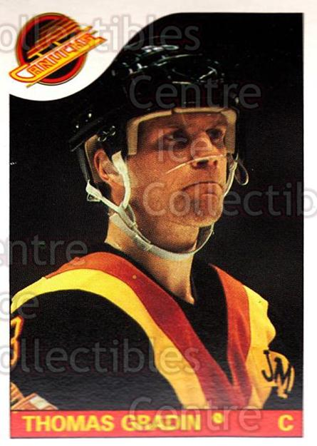 1985-86 O-Pee-Chee #16 Thomas Gradin<br/>2 In Stock - $1.00 each - <a href=https://centericecollectibles.foxycart.com/cart?name=1985-86%20O-Pee-Chee%20%2316%20Thomas%20Gradin...&quantity_max=2&price=$1.00&code=468625 class=foxycart> Buy it now! </a>
