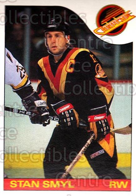 1985-86 O-Pee-Chee #68 Stan Smyl<br/>1 In Stock - $1.00 each - <a href=https://centericecollectibles.foxycart.com/cart?name=1985-86%20O-Pee-Chee%20%2368%20Stan%20Smyl...&quantity_max=1&price=$1.00&code=468677 class=foxycart> Buy it now! </a>