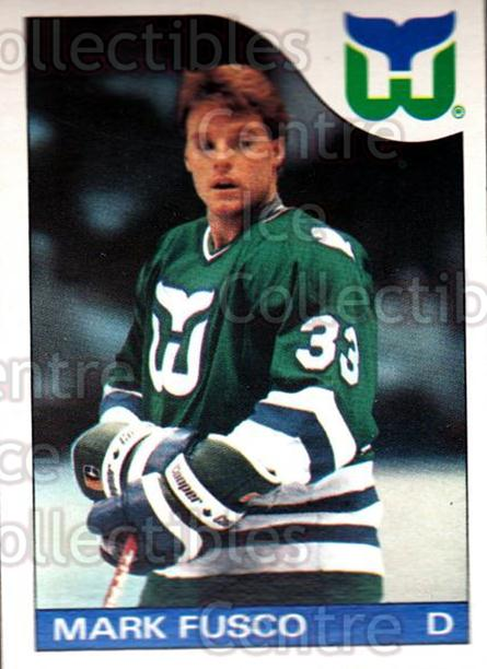 1985-86 O-Pee-Chee #74 Mark Fusco<br/>3 In Stock - $1.00 each - <a href=https://centericecollectibles.foxycart.com/cart?name=1985-86%20O-Pee-Chee%20%2374%20Mark%20Fusco...&quantity_max=3&price=$1.00&code=468683 class=foxycart> Buy it now! </a>