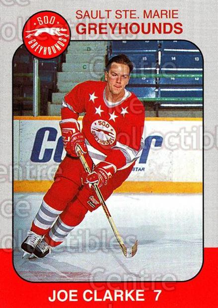 1993-94 Sault Ste. Marie Greyhounds Memorial Cup #8 Joe Clarke<br/>4 In Stock - $3.00 each - <a href=https://centericecollectibles.foxycart.com/cart?name=1993-94%20Sault%20Ste.%20Marie%20Greyhounds%20Memorial%20Cup%20%238%20Joe%20Clarke...&quantity_max=4&price=$3.00&code=4686 class=foxycart> Buy it now! </a>