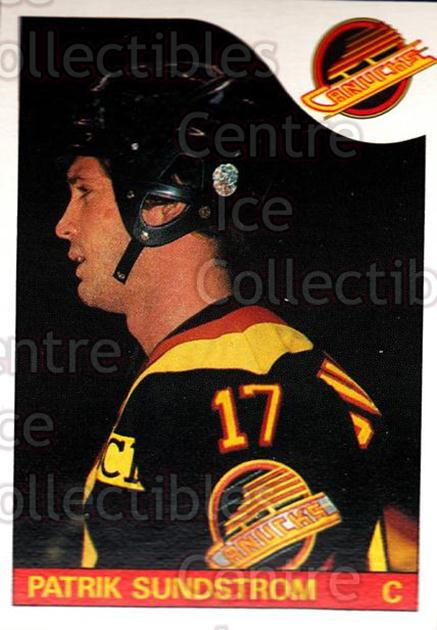 1985-86 O-Pee-Chee #115 Patrik Sundstrom<br/>4 In Stock - $2.00 each - <a href=https://centericecollectibles.foxycart.com/cart?name=1985-86%20O-Pee-Chee%20%23115%20Patrik%20Sundstro...&quantity_max=4&price=$2.00&code=468724 class=foxycart> Buy it now! </a>