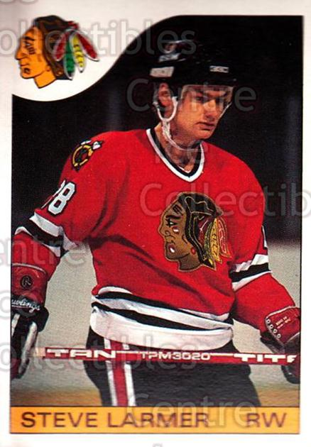 1985-86 O-Pee-Chee #132 Steve Larmer<br/>4 In Stock - $1.00 each - <a href=https://centericecollectibles.foxycart.com/cart?name=1985-86%20O-Pee-Chee%20%23132%20Steve%20Larmer...&quantity_max=4&price=$1.00&code=468741 class=foxycart> Buy it now! </a>