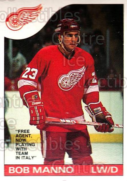 1985-86 O-Pee-Chee #134 Bob Manno<br/>4 In Stock - $1.00 each - <a href=https://centericecollectibles.foxycart.com/cart?name=1985-86%20O-Pee-Chee%20%23134%20Bob%20Manno...&quantity_max=4&price=$1.00&code=468743 class=foxycart> Buy it now! </a>